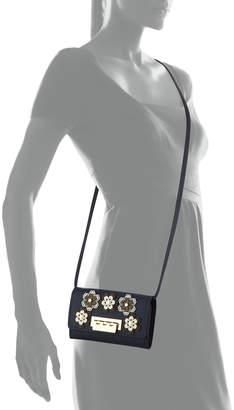 Zac Posen Earthette Hex Floral Leather Crossbody Wallet