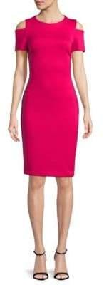 Calvin Klein Cold-Shoulder Shift Dress