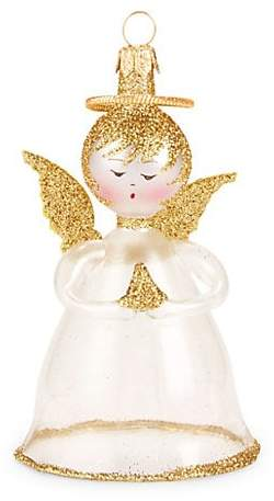 De Carlini Angel with Halo Ornament
