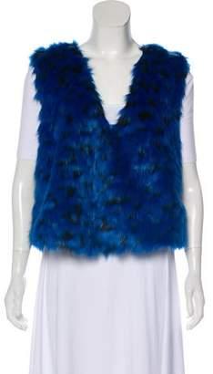 MICHAEL Michael Kors Faux Fur Open Front Vest