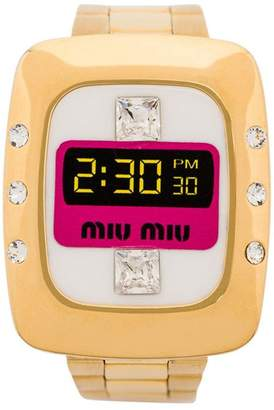 Miu Miu Watch with crystals