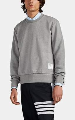 Thom Browne Men's Cotton Terry Crewneck Sweatshirt - Light Gray
