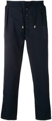Sunnei drawstring straight-leg trousers