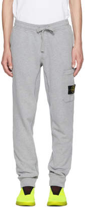 Stone Island Grey Logo Badge Lounge Pants