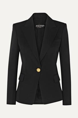 Balmain Wool-twill Blazer - Black