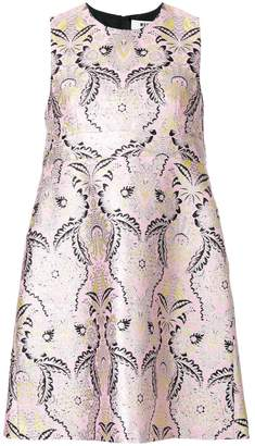 MSGM brocade mini shift dress