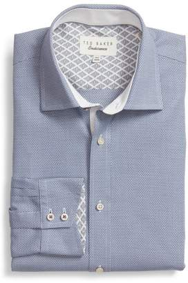 Ted Baker Murgese Trim Fit Geometric Dress Shirt