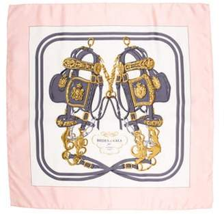 Hermà ̈s Brides de Gala Silk Scarf Pink Hermà ̈s Brides de Gala Silk Scarf