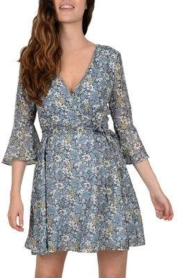 Molly Bracken Floral-Print Wrap Dress
