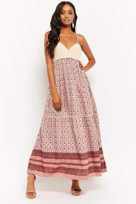 Forever 21 Flower Print Cami Maxi Dress