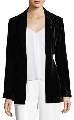 Trina Turk Draped Velvet Bell-Sleeve Smoking Jacket
