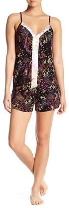 Tahari Strappy V-Neck & Shorts Pajama 2-Piece Set