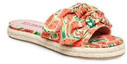 Betsey Johnson Jazzy Printed Knot Slides