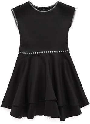 Couture Dolls and Divas ウエストトリム パイピング ティアード 半袖ドレス ブラック 8