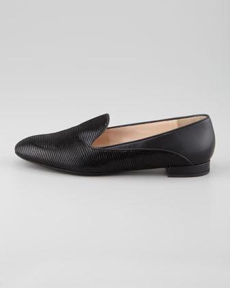 Giorgio Armani Printed Suede & Leather Slipper