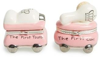 Mud Pie 'Princess' First Tooth & Curl Treasure Box Set $30 thestylecure.com