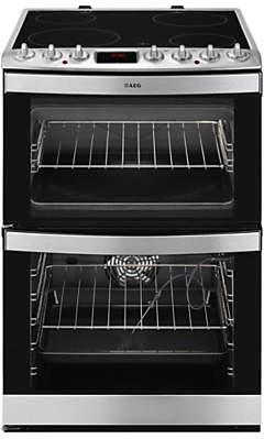 AEG 43102V-MN Freestanding Electric Cooker, Stainless Steel