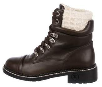 Chanel Leather Ankle Boots Brown Leather Ankle Boots
