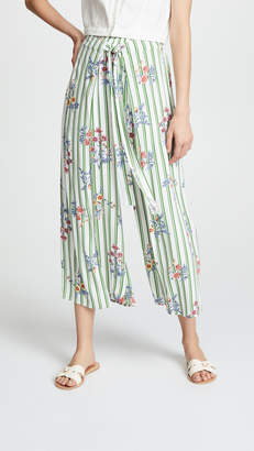 Moon River Floral Stripe Pants