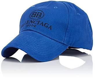 "Balenciaga Men's ""BB Mode"" Cotton Baseball Cap"