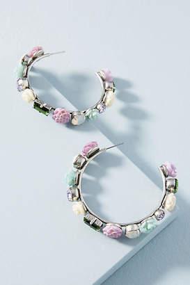 Dannijo Wonderous Flower Hoop Earrings