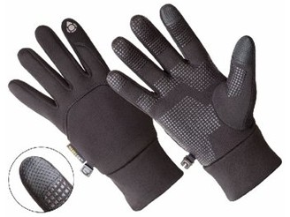 Hands On AL1400, Men's Multi-Purpose Athletic Glove, Touch Screen Compatible, Black (One Size Fits Most).