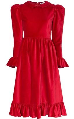 Batsheva collared midi dress