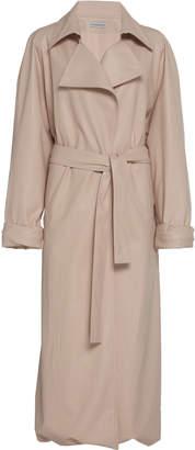 Vika Gazinskaya Faux Leather Trench Coat