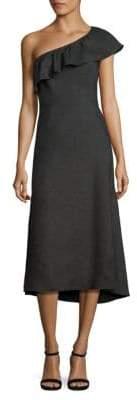 A.L.C. Evangeline Ruffled One-Shoulder Dress