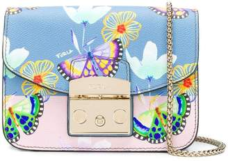 Furla butterfly print mini Metropolis bag