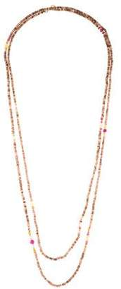 David Yurman 18K Multistone Mustique Tweejoux Long Beaded Necklace