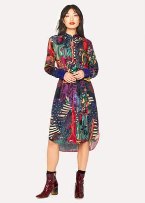 Paul Smith Women's 'Dreamer' Print Wool-Blend Shirt Dress