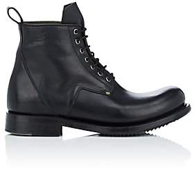 Rick Owens Men's Leather Lace-Up Boots - Black
