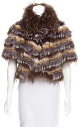 Glamour Puss Glamourpuss Layered Fur Jacket w/ Tags