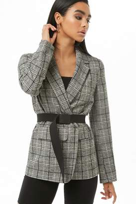 Forever 21 Glen Plaid Print Blazer