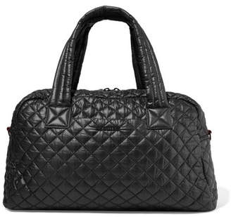 MZ Wallace Jimmy Leather-trimmed Quilted Shell Tote - Black