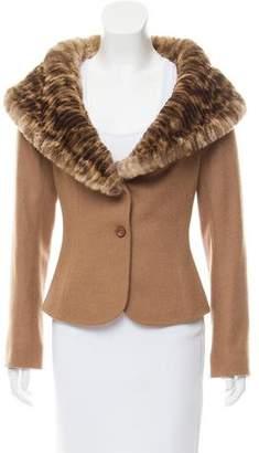 Fendi Wool Fur-Trimmed Jacket