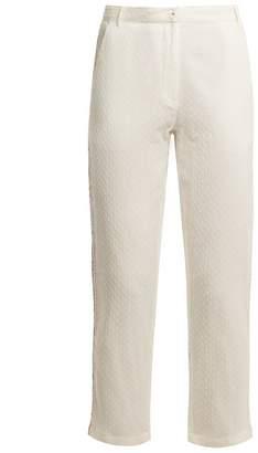 Mes Demoiselles Dobby-dot cotton trousers