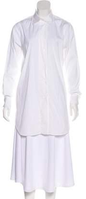 Amina Rubinacci Long Sleeve Button-Up Top