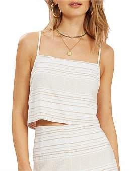 MinkPink Au Naturale Tie Back Top