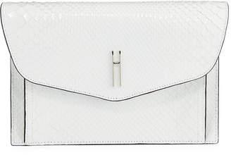 Hayward Bobby Shiny Python Envelope Clutch Bag