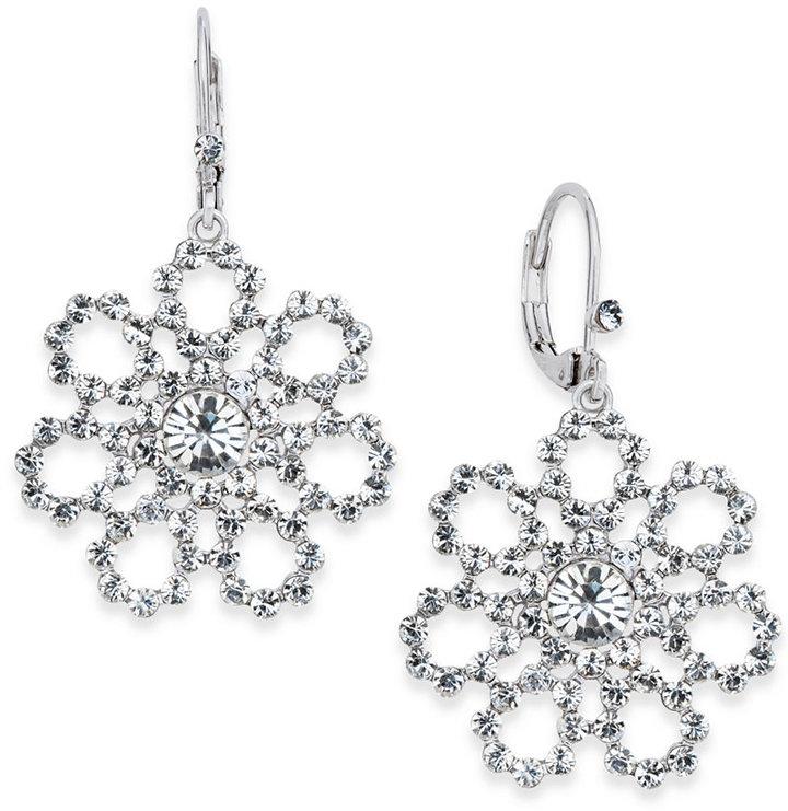 Kate Spadekate spade new york Silver-Tone Flower Drop Earrings