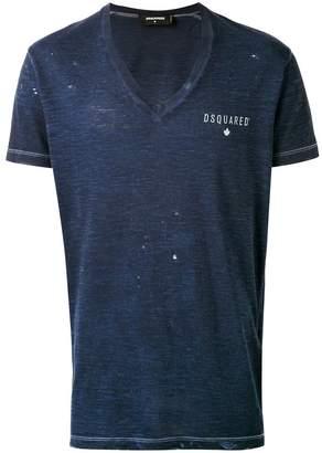 DSQUARED2 v-neck logo T-shirt