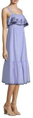 Kate Spade Daisy Embroidered Patio Cotton Midi Dress