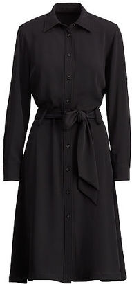 Ralph Lauren Lauren Fit-And-Flare Shirtdress $145 thestylecure.com