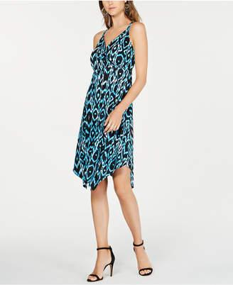 INC International Concepts Inc Ikat Crisscross Ring Dress