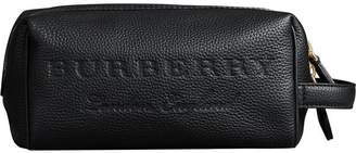 Burberry Embossed Grainy Leather Pouch