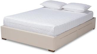 Design Studios Leni Modern And Contemporary 4-Drawer Platform Storage Bed