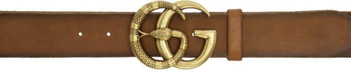 Gucci Brown Logo Belt