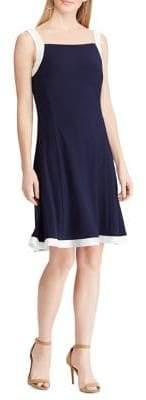 Chaps Sleeveless Fit--Flare Dress